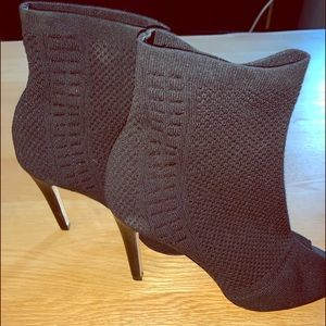 Stretchy Peep-Toe Booties